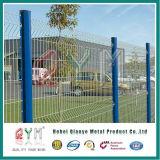 Cercado del acoplamiento de alambre soldado acero que cerca el cercado galvanizado cubierto PVC