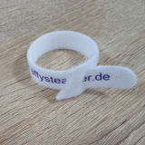 Logo d'impression RoHS Crochet de boucle de crochet pour la gestion des câbles