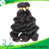 Extensão ondulada muito popular do cabelo humano do Virgin do brasileiro de barato 100%