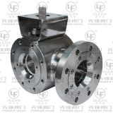 T Port DreiwegeBall Valve (Oblatetyp)