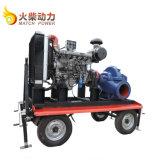 Gran caudal de 100 CV 800m3/H doble aspiración bomba centrífuga Diesel móviles bomba de agua para la venta