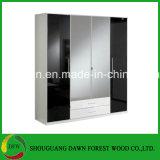 Nieuwe Moderne Kast van de Slaapkamer van de Garderobe van de Melamine & Garderobe (de Garderobe van de prijs van de Fabriek) dfw-006