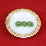 Piatto di minestra di ceramica poco costoso di stampa di Foodsafe degli articoli per la tavola standard della decorazione