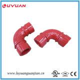 FM/UL 승인되는 연성이 있는 철 팔꿈치 (홈이 있는 관 이음쇠)