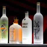 Visualización de acrílico para las bebidas, sostenedor del estallido LED del vino