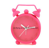 Horloge d'alarme muette de bureau de silicones d'horloge de Tableau de chambre à coucher de Snooze pour la décoration à la maison