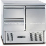 Refrigerador comercial da tabela da preparação de Saladette de duas portas