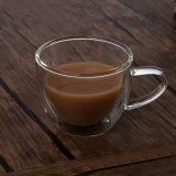 Cappuccino verre français la tasse de café tasse à café expresso en verre double paroi Tasse et soucoupe