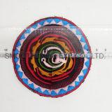 Emblema étnico redondo colorido de Boho dos acessórios do vestuário da correção de programa do bordado da forma
