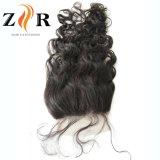 Chiusura brasiliana del merletto dei capelli umani del Virgin dell'onda del corpo