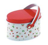 Marchandises dans la boîte-cadeau portative ovale de bidon de qualité courante avec 6 configurations pour le choix pour la sucrerie, biscuits, ramassage de chocolat