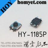 Interruptor redondo do tacto da tecla com 3.5*3*2mm Pin SMD de 4 curvaturas