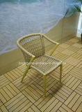 Aus Weiden geflochtener im Freienrattan-Patio-Garten-Arm-Stuhl