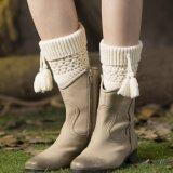 싼 형식 모직 펠트 손에 의하여 뜨개질을 하는 다리 온열 장치 공장 도매 판매 (관례를 받아들이십시오)