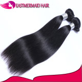 Естественные черные Silk прямо человеческие волосы Peruvian 100%