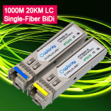 1000m Gigabit 1,25g T1310 R1550 20km LC SMF Bidi Módulo transceptor SFP LX