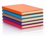 Debossed 가죽 덮개 및 로고를 가진 두꺼운 표지의 책 노트북 전표