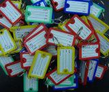 Plástico etiqueta de la identificación, llavero Tag