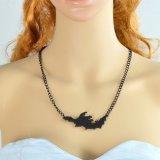Halsbanden van de Knuppel van de Keten van de Stijl van de namaakbijouterie de Gotische Zwarte Mooie Dierlijke