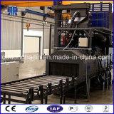 Trasportatore a rulli tramite la macchina di granigliatura per i piatti d'acciaio