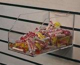 Estante de acrílico de encargo del supermercado del almacenaje de la pared de la visualización del reloj
