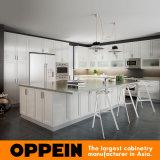 Oppeinの無光沢のラッカー島(OP16-L06)が付いている白い木の食器棚