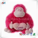 الصين ممون قطيفة زغبة [هوت بينك] غوريلا لعبة مع أحمر قلب [فلنتين دي] هبة