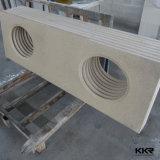 Controsoffitto di superficie solido della cucina della pietra della resina di nuovo disegno di Kkr
