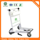 Runder Handle Edelstahl Airport Baggage Trolley mit Auto Brake