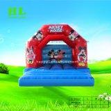 Bequemer netter blauer kleiner Bus-aufblasbarer springender Prahler für Kinder