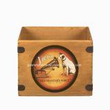 レトロレコードボックス型のレコードプレーヤのための木のアルバム木枠