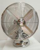 Ventilatore della Ventilatore-Tabella dell'Ventilatore-Oggetto d'antiquariato del metallo bianco di Ventilatore-Placcatura