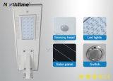 20W refroidissent le réverbère solaire Integrated intelligent blanc de DEL