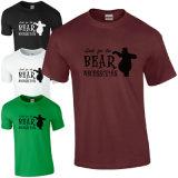 Le plus défunt T-shirt de collet du Mens O de coton de modèle de vente en gros (A263)