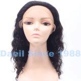 Mujer de pelo humano Remy delantera de encaje peluca ondulada suelta