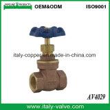 Válvula de compuerta de bronce de Bsp certificada (AV4001)