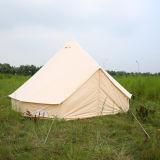 семьи цвета шатра колокола холстины хлопка 5m Glamping шатер колокола роскошной бежевой ся с отверстием печки