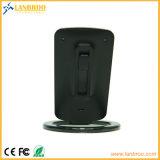 Portátil inteligente bobinas único cargador inalámbrico estándar Qi para teléfonos inteligentes