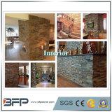 Z 모양 문화적인 돌 슬레이트 Ledgestone 베니어 벽 클래딩 도와