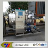 PLC Control Water Spray Retort Sterilizer per Glass Bottle