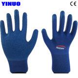 De latex Met een laag bedekte Handschoenen van de Veiligheid van de Hand Beschermende Industriële