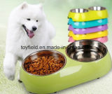 Ensemble de chien Alimentation en bambou Portable Cat Pet Bowl