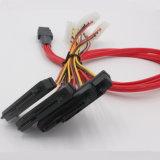 電源コネクタが付いている4X Sas 22pケーブルへの小型Sas 36p