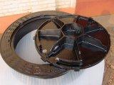 Coperchio di botola duttile resistente rotondo del ferro con il blocco per grafici