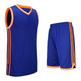 卸売によってカスタマイズされるバスケットボールのスーツのスポーツの摩耗乾燥した適合のバスケットボールジャージー