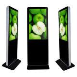 展覧会場人間の特徴をもつネットワーク4K LCD表示の床の永続的なキオスク65インチ