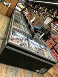 Supermercado tipo tórax Mostrar congelador con puerta corrediza de vidrio