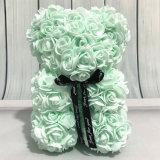 10  /25cm 소형 박하 녹색 PE 거품 로즈 곰 크리스마스 선물