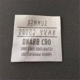 China Cuadrado principal Etiquetas tejidas con ropa de mujer