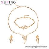 Chapado en oro de imitación Bisutería Square CZ Set de joyas de la mujer